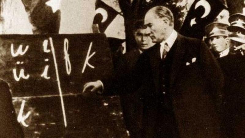 Milli Eğitim Müdürlüğünün dağıttığı kitaptan: Harf devrimi enkaz bıraktı!
